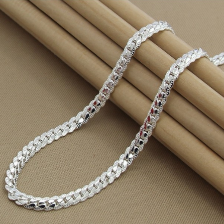 925 Silver Chain >> Unisex 925 Sterling Silver Chain